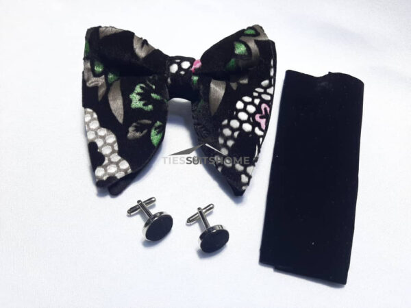 Black and Green Butterfly Bowtie