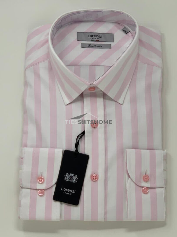 Pink and White Candy Stripes Long Sleeve Shirt