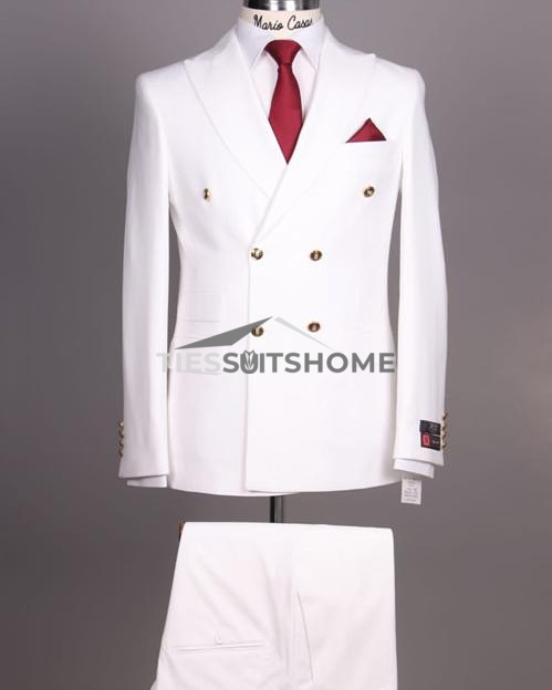 White Double-breasted Suit